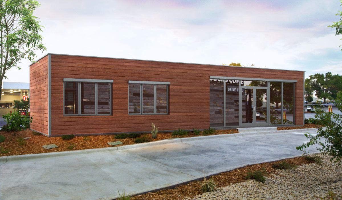 Neu Bürocontainer mit Fassadenverkleidung