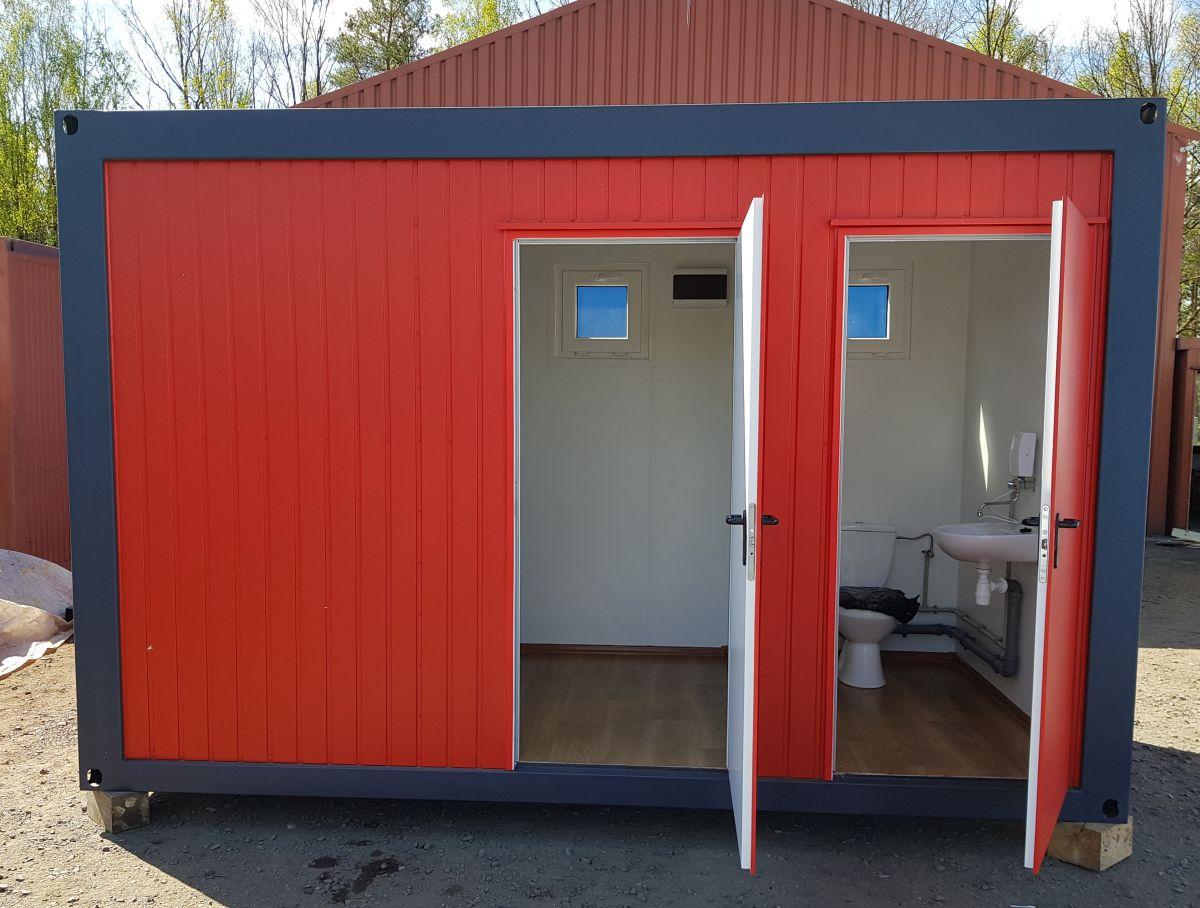 Neu Lagercontainer Baucontainer mit WC - Teil